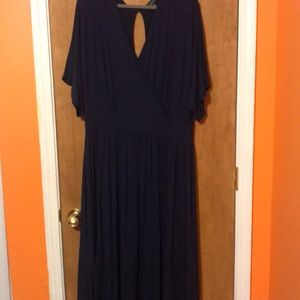 Long Navy Plus Size Maxi Dress